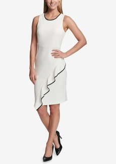 Tommy Hilfiger Piped Ruffled Dress