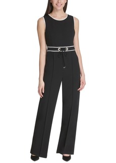 Tommy Hilfiger Piped Tie-Waist Jumpsuit