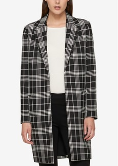 Tommy Hilfiger Plaid Car Coat, Created for Macy's