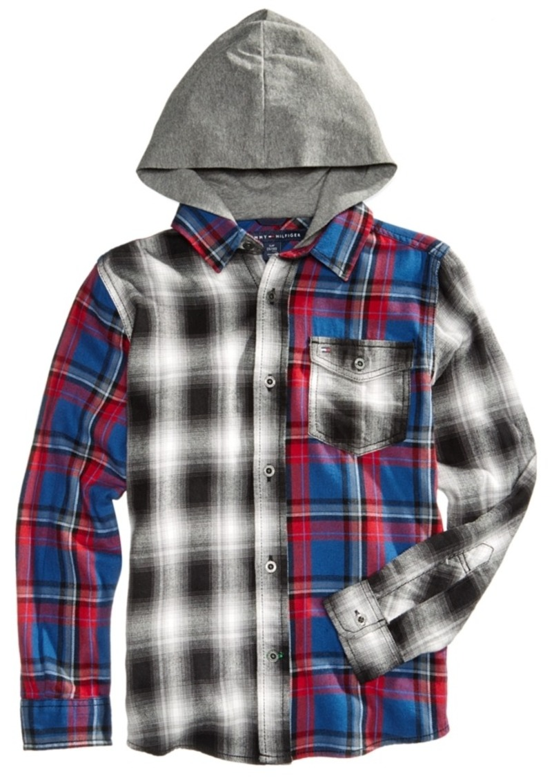 089b2377c2e08 Tommy Hilfiger Tommy Hilfiger Plaid Flannel Hooded Shirt
