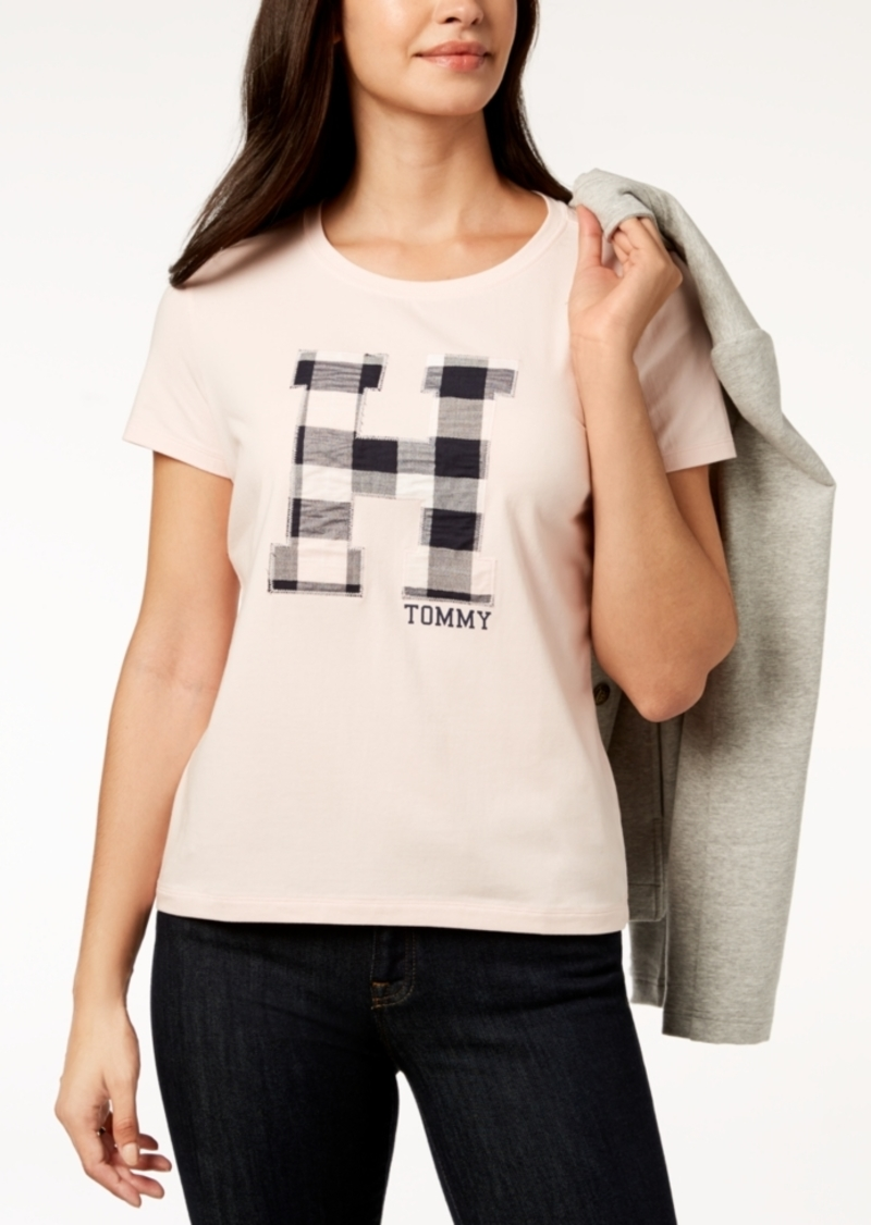 4c8b92a8d Tommy Hilfiger Tommy Hilfiger Plaid Logo T-Shirt, Created for Macy's ...