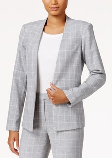 Tommy Hilfiger Plaid Open-Front Jacket