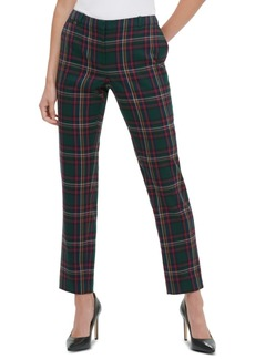 Tommy Hilfiger Plaid Straight-Fit Pants