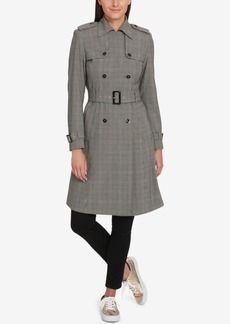 Tommy Hilfiger Plaid Trench Coat, Created for Macy's