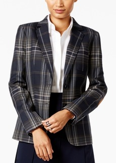 Tommy Hilfiger Plaid Two-Button Blazer
