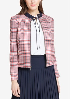 Tommy Hilfiger Plaid Zip-Up Jacket