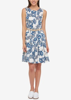 Tommy Hilfiger Pleated A-Line Dress, Created for Macy's