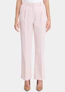 Tommy Hilfiger Pleated Crepe Wide-Leg Trouser Pants