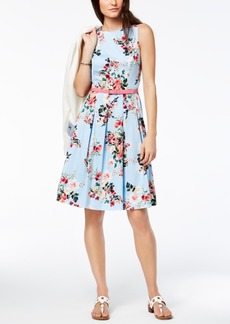 Tommy Hilfiger Pleated Fit & Flare Dress