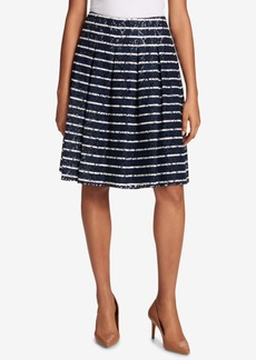 Tommy Hilfiger Pleated Lace Skirt