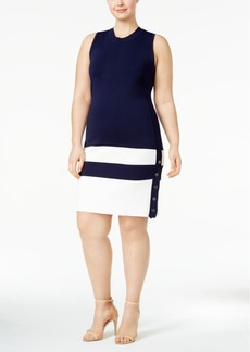 Tommy Hilfiger Plus Size Button-Hem Sweater Dress