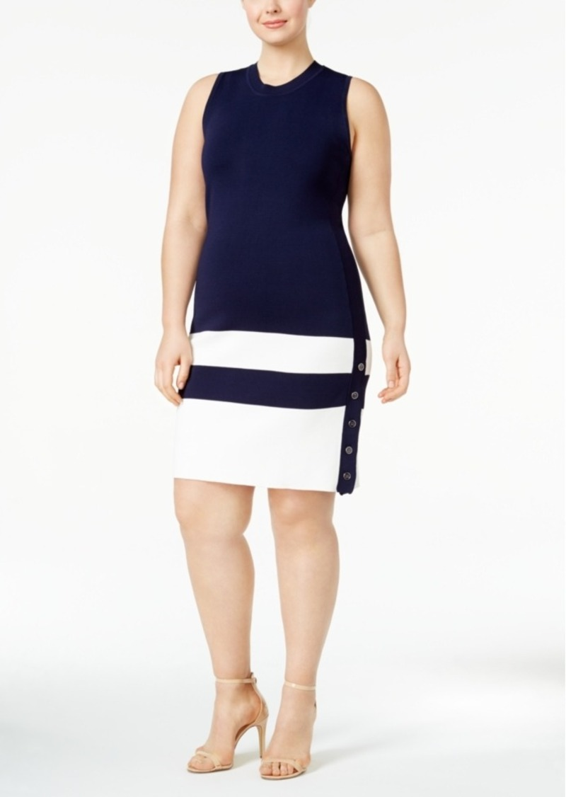 Tommy Hilfiger Tommy Hilfiger Plus Size Button-Hem Sweater Dress ...