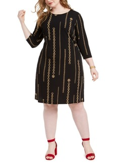 Tommy Hilfiger Plus Size Chain Print Dress