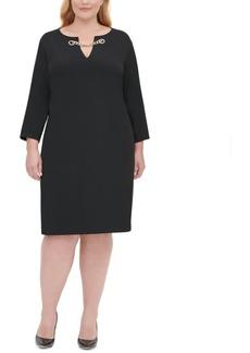 Tommy Hilfiger Plus Size Chain-Trim Sheath Dress
