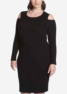 Tommy Hilfiger Plus Size Cold-Shoulder Dress, Created for Macy's