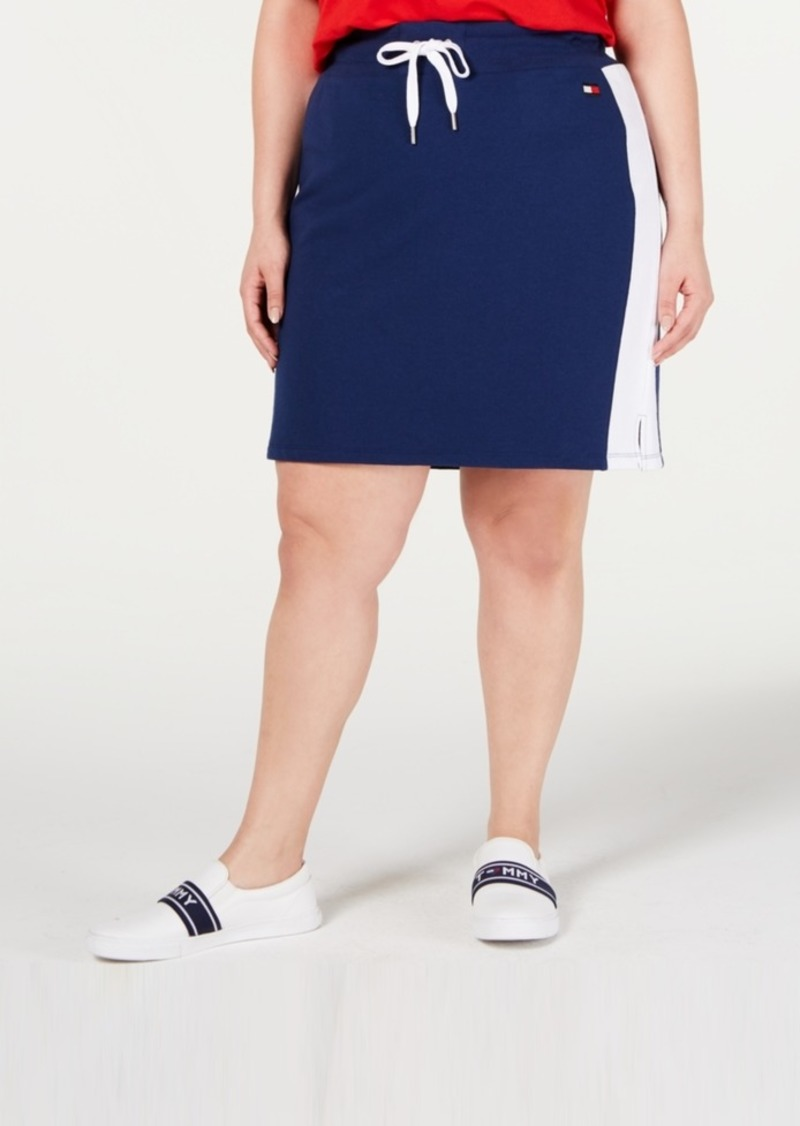 Tommy Hilfiger Sport Plus-Size Colorblocked Pencil Skirt
