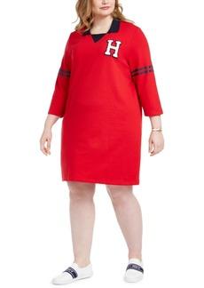 Tommy Hilfiger Plus Size Contrast-Trim Dress
