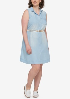 Tommy Hilfiger Plus Size Denim Shirtdress, Created for Macy's