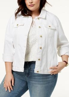 Tommy Hilfiger Plus Size Denim Trucker Jacket, Created for Macy's