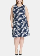 Tommy Hilfiger Plus Size Embroidered Fit & Flare Dress