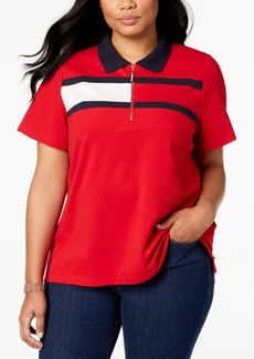 Tommy Hilfiger Plus Size Flag Logo Polo Shirt, Created for Macy's