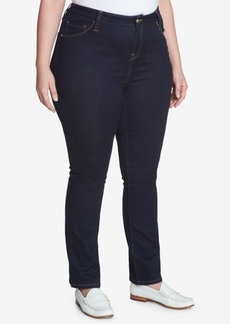 Tommy Hilfiger Plus Size Greenwhich Slim-Leg Jeans, Created for Macy's