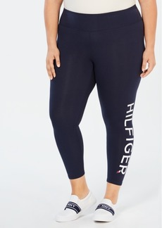 Tommy Hilfiger Plus Size High-Rise Logo Leggings