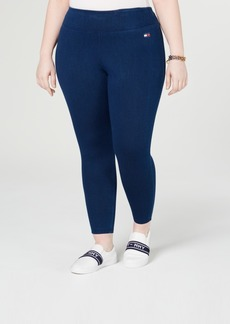 Tommy Hilfiger Plus Size High-Rise Pull-On Jean Leggings