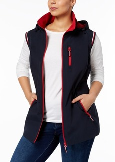 Tommy Hilfiger Plus Size Hooded Vest, Created for Macy's