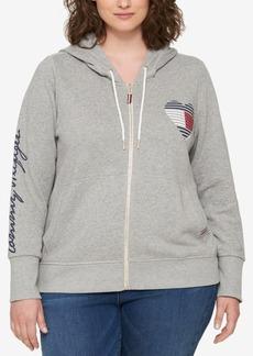 Tommy Hilfiger Plus Size Logo Hoodie Sweatshirt