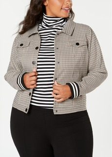 Tommy Hilfiger Plus Size Plaid Jacket, Created for Macy's