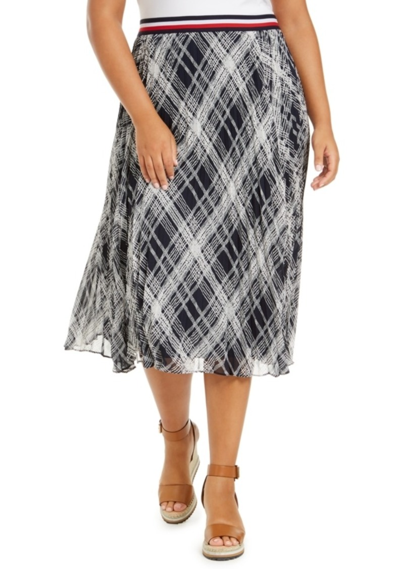 Tommy Hilfiger Plus Size Plaid Midi Skirt