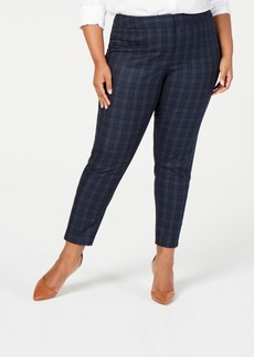 Tommy Hilfiger Plus Size Plaid Straight-Leg Pants, Created for Macy's