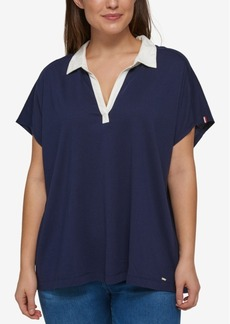 Tommy Hilfiger Plus Size Polo Top
