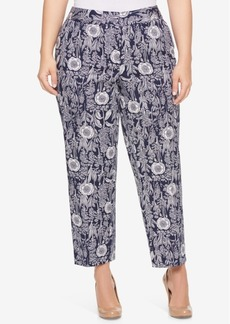 Tommy Hilfiger Plus Size Printed Cropped Pants