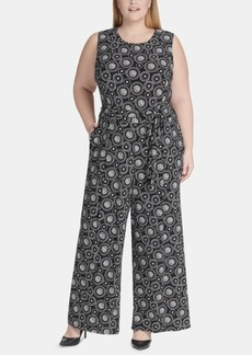 Tommy Hilfiger Plus Size Printed Jersey Jumpsuit