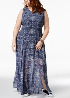 Tommy Hilfiger Plus Size Printed Maxi Dress