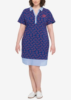 Tommy Hilfiger Plus Size Printed Polo Dress
