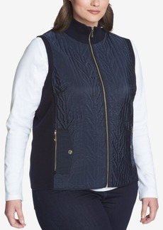 Tommy Hilfiger Plus Size Quilted Rib-Knit Vest, Created for Macy's