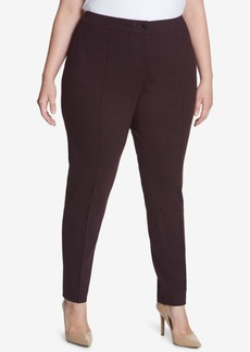 Tommy Hilfiger Plus Size Seamed Ponte-Knit Pants, Created for Macy's