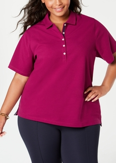 Tommy Hilfiger Plus Size Short-Sleeve Polo Shirt, Created for Macy's