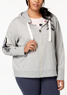 Tommy Hilfiger Plus Size Signature Hoodie, Created for Macy's
