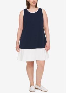 Tommy Hilfiger Plus Size Sleeveless Colorblocked Dress