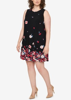Tommy Hilfiger Plus Size Sleeveless Printed Dress, Created for Macy's