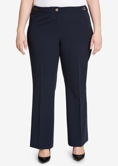 Tommy Hilfiger Plus Size Straight-Leg Trousers, Created for Macy's