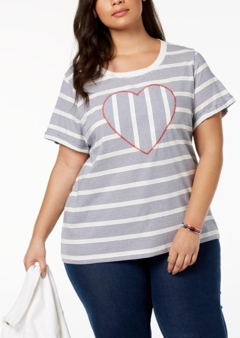 590453f4b25 Tommy Hilfiger Tommy Hilfiger Plus Size Striped Heart Top