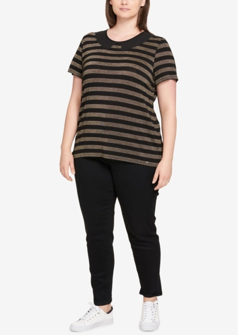 On Sale today! Tommy Hilfiger Tommy Hilfiger Plus Size Striped Peter ...