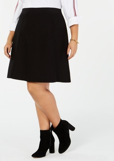 Tommy Hilfiger Plus Size Sweater A-Line Skirt, Created for Macy's