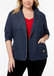 Tommy Hilfiger Plus Size Sweatshirt-Knit Blazer, Created for Macy's