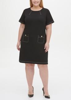 Tommy Hilfiger Plus Size Topstitch Pocket Dress